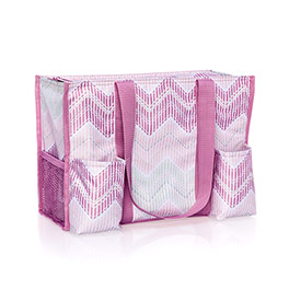 Zip-Top Organizing Utility Tote - Chevron Stitch