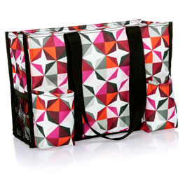 Zip-Top Organizing Utility Tote - Origami Pop