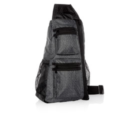 Sling-Back Bag - Charcoal Crosshatch
