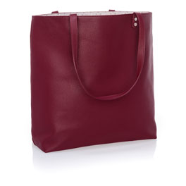 Around Town Tote - Deep Merlot Pebble