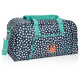 All Packed Duffle - Navy Doodle Dot