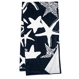 Summer Days Towel - Navy Starfish Splash