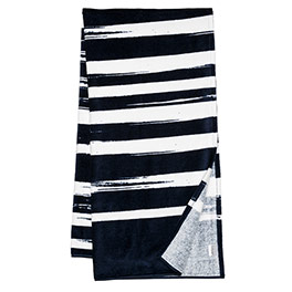 Summer Days Towel - Navy Brush Strokes