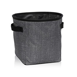 Mini Storage Bin - Charcoal Crosshatch