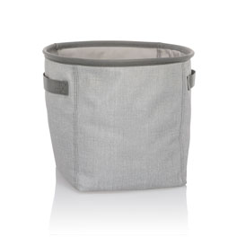 Mini Storage Bin - Light Grey Crosshatch