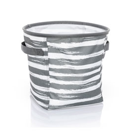Mini Storage Bin - Grey Brush Strokes