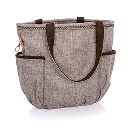 Retro Metro Bag - Mocha Crosshatch