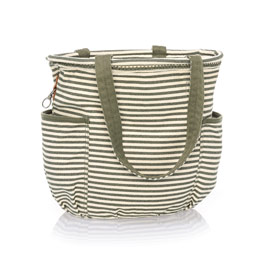 Retro Metro Bag - Olive Twill Stripe