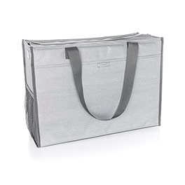 Deluxe Organizing Utility Tote - Light Grey Crosshatch