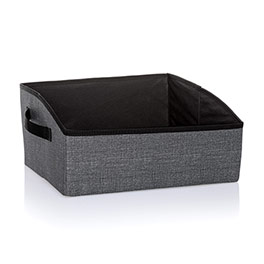 Your Way Display Bin - Charcoal Crosshatch