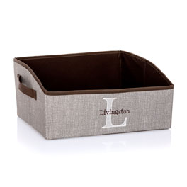 Your Way Display Bin - Mocha Crosshatch