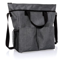 Crossbody Organizing Tote - Charcoal Crosshatch