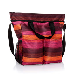 Crossbody Organizing Tote - Ombre Stripe