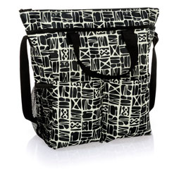 Crossbody Organizing Tote - Ink Blocks