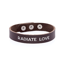 Just Write Snap Bracelet - Brown