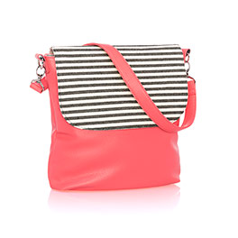 Studio Thirty-One Modern - Calypso Coral Pebble w/ Twill Stripe