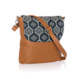 Studio Thirty-One Modern - Caramel Charm Pebble w/ Dotty Hexagon