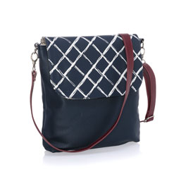 Studio Thirty-One Modern - Midnight Navy Pebble w/ Dash of Plaid Pebble