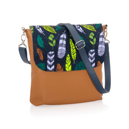 Studio Thirty-One Modern - Caramel Charm Pebble w/ Falling Feathers