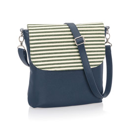 Studio Thirty-One Modern - Midnight Navy Pebble w/ Olive Twill Stripe