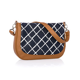 Studio Thirty-One Classic - Caramel Charm Pebble w/ Dash of Plaid Pebble