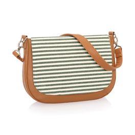 Studio Thirty-One Classic - Caramel Charm Pebble w/ Olive Twill Stripe