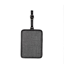 Carry Me Away Luggage Tag - Charcoal Crosshatch