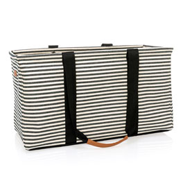 Large Utility Tote Ltd. - Twill Stripe