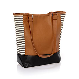 Colorblock Tote - Caramel Charm Pebble