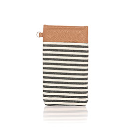 Pinch Top Eyeglass Case - Twill Stripe