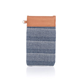 Pinch Top Eyeglass Case - Woven Stripe