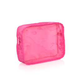 Get Creative Rectangle Pouch - Pink Crosshatch
