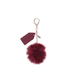 Finishing Touch Bag Charm - Merlot Pom