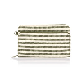 Perfect Cents Wallet - Olive Twill Stripe