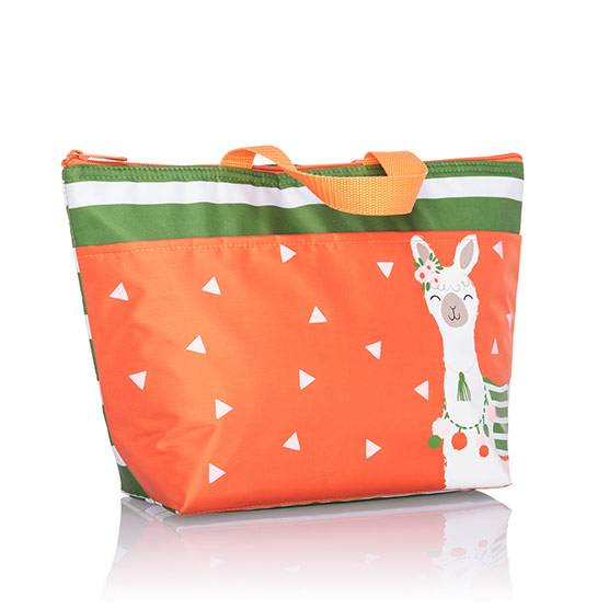 Thermal Tote - Green Cabana Stripe
