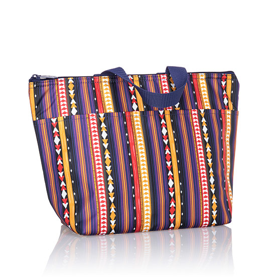 Thermal Tote - Purple Southwest Stripe