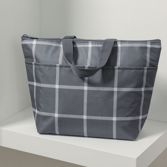 Thermal Tote - Windowpane Plaid