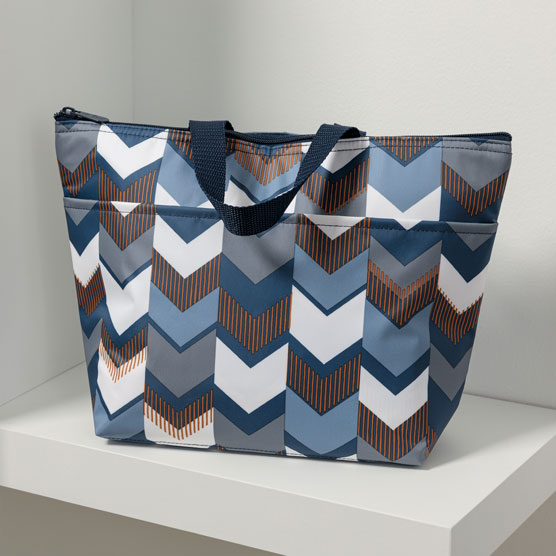 Thermal Tote - Shades of Chevron