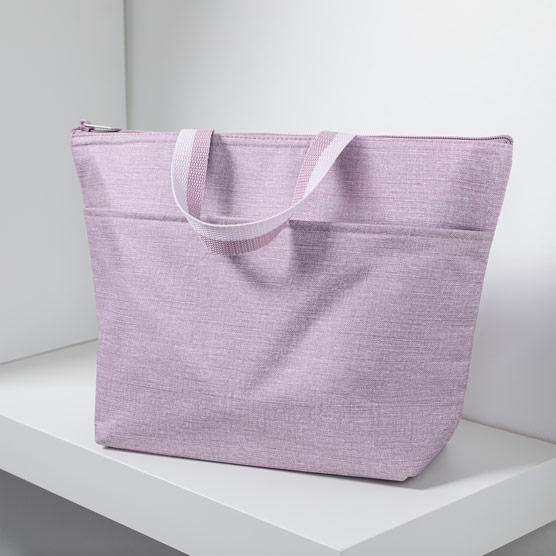 Thermal Tote - Purple Crosshatch