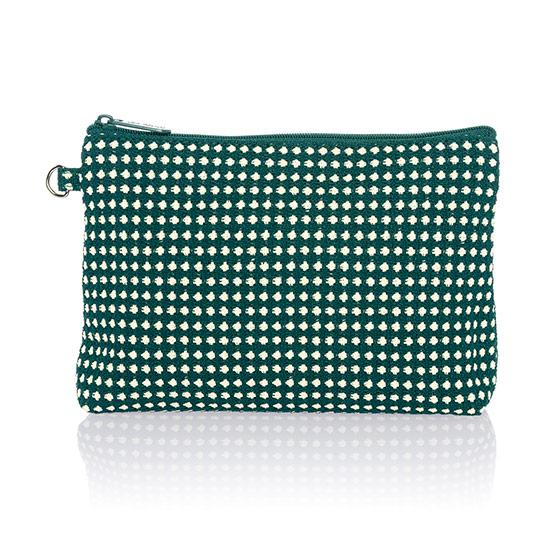 Mini Zipper Pouch - Dotty Weave
