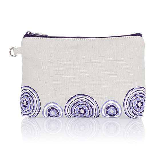 Mini Zipper Pouch - Grey w/ Geo Pop