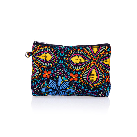 Mini Zipper Pouch - Stitched Medallion