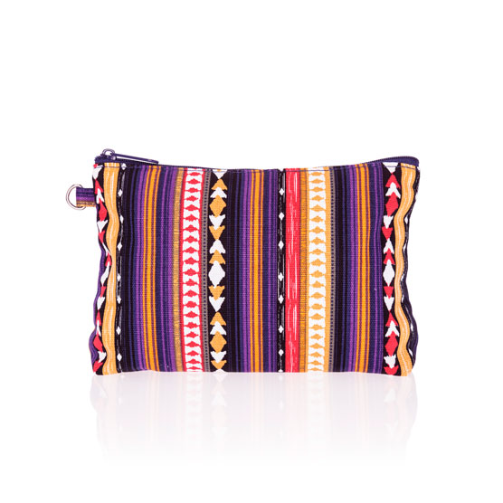 Mini Zipper Pouch - Purple Southwest Stripe