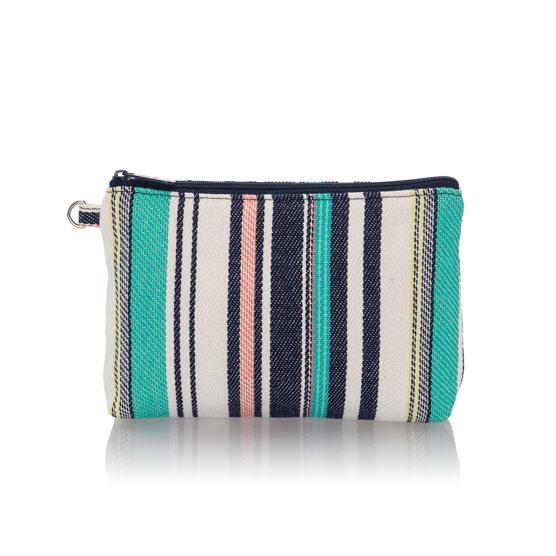 Mini Zipper Pouch - Caribbean Weave