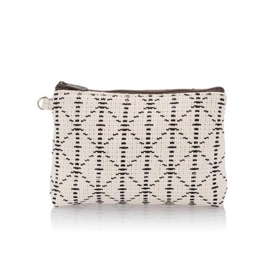 Mini Zipper Pouch - Moroccan Tile Weave