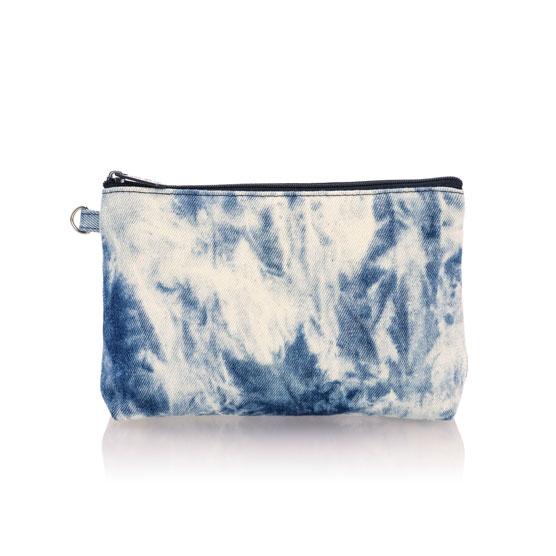 Mini Zipper Pouch - Tie-Dye Sky
