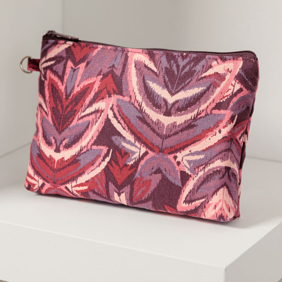 Mini Zipper Pouch - Floral Ikat