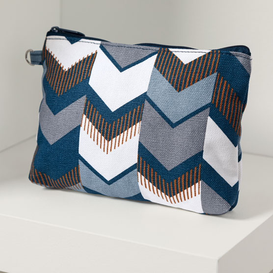 Mini Zipper Pouch - Shades of Chevron