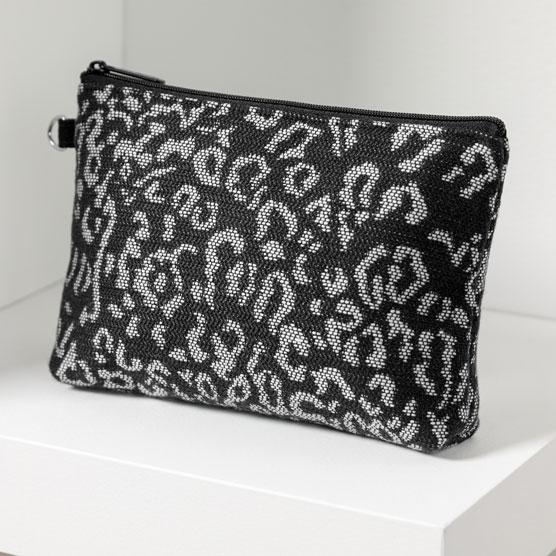 Mini Zipper Pouch - Luxe Leopard Weave