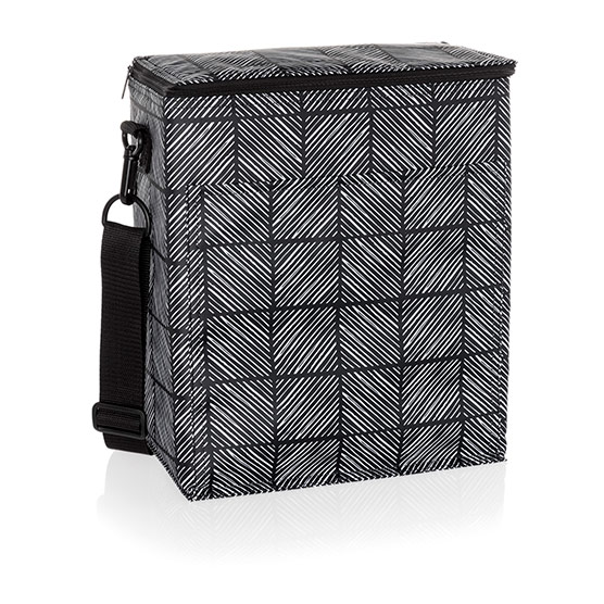 Picnic Thermal Tote - Chevron Squares